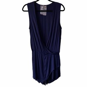 Young Fabulous & Broke Sinta Romper Navy M